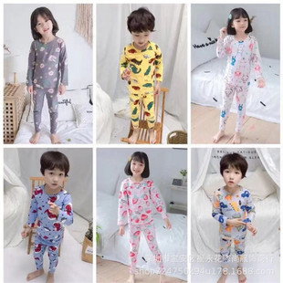 Factory tail goods wholesale children's clothing set plus velvet warm sweater Korean version of the autumn and winter stall supply set on behalf of