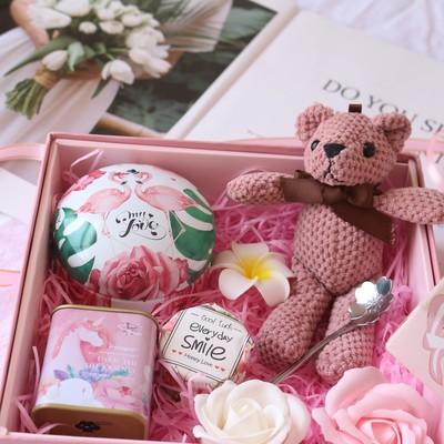 生日礼物送女友网红抖音创意组合花茶礼盒装花茶礼盒装用心