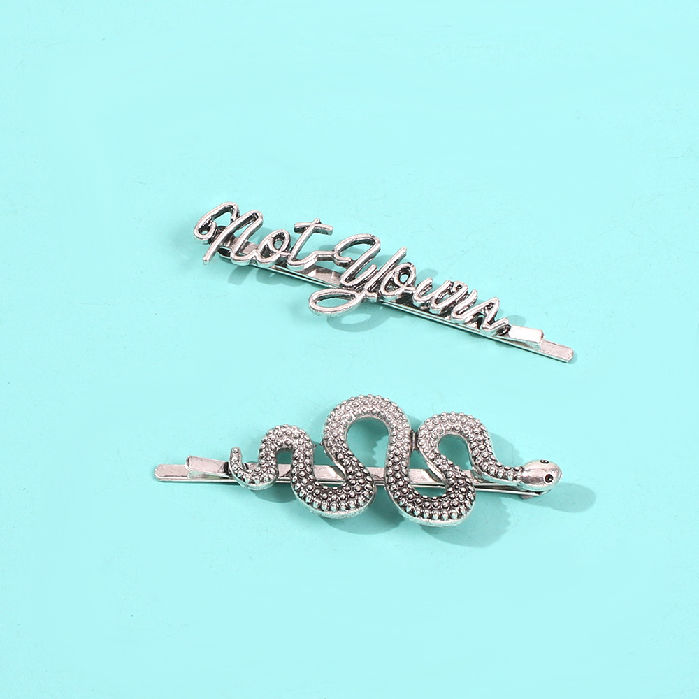 Exaggerated retro hair accessories exquisite personality flattering hair clip wild word clip side clip set NHMD186607