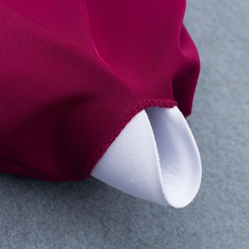New solid color tube top bikini swimsuit sexy triangle double-sided fabric split female swimwear NHHL200054