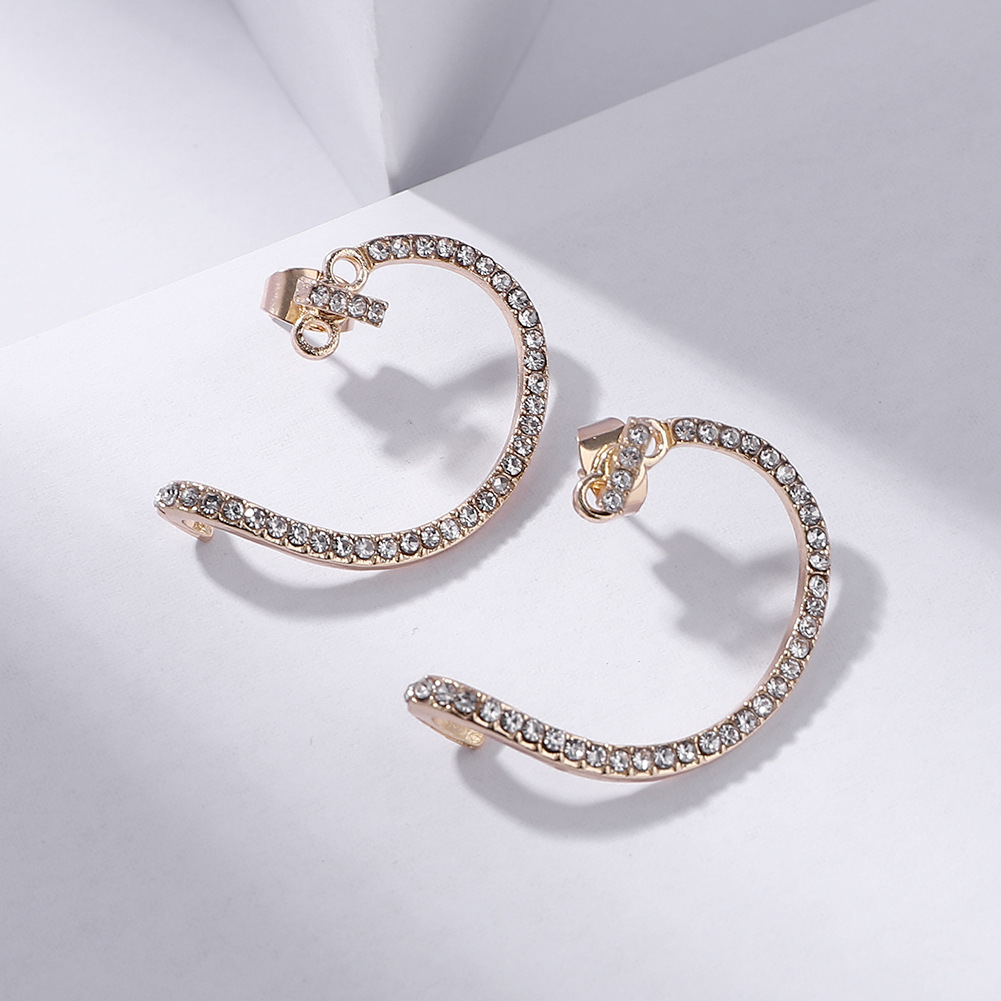 Alloy earrings creative ear hook fashion ear clip NHJQ185859