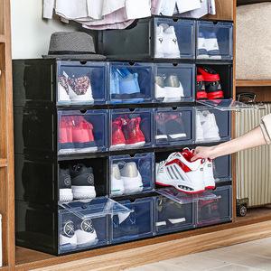 ប្រអប់ ដាក់ ស្បែកជើង Transparent Plastic Storage Shoes Box Folding Thickenedd DustProof PZ492048