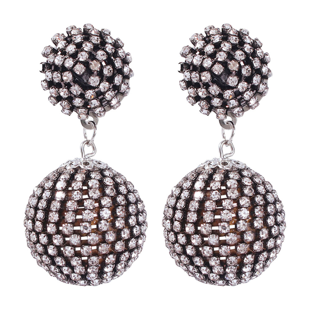 Womens Geometric Alloy Imitation Rhinestone Earrings NHMD133920