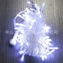 燈光節led燈串白光10米100燈串燈節日戶外酒店園林防水工程用