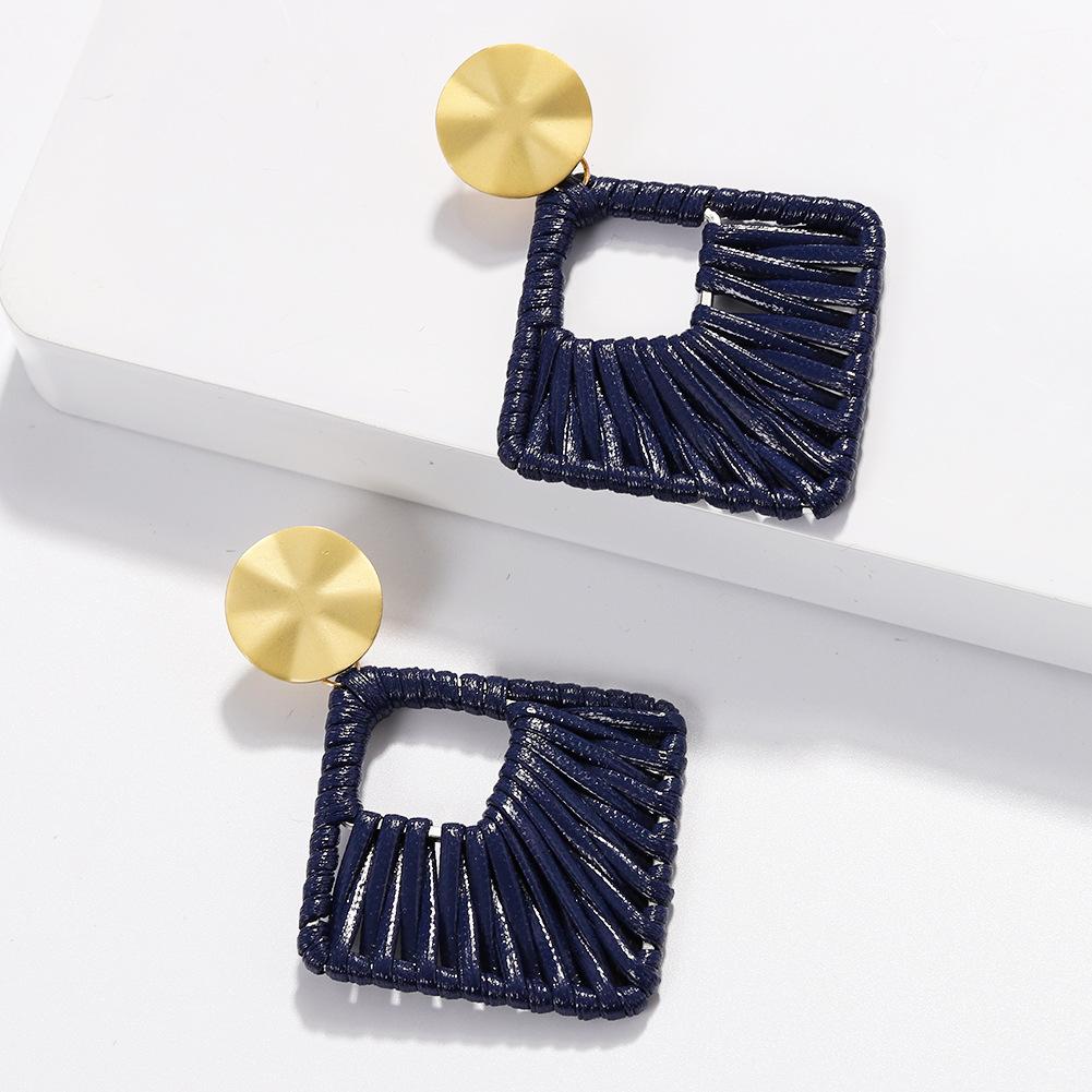 Alloy Fashion bolso cesta earring  (blue)  Fashion Jewelry NHJQ11347-blue