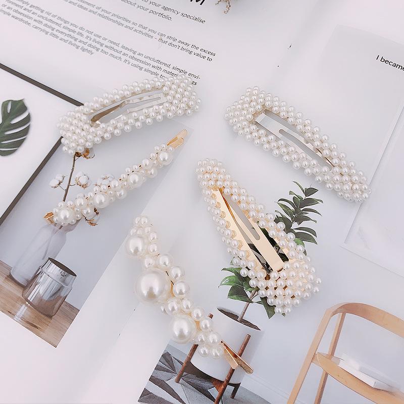 Korean new fashion pearl hairpin cheap hairpin wholesale NHDQ207405