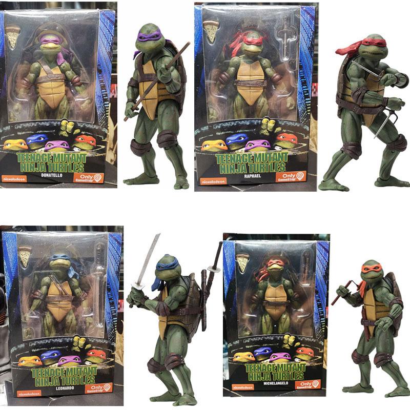 NECA 忍者神龟 1990电影版 TMNT 限定版 7寸可动人偶手办模型