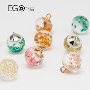 Yigao clothing accessories real flower buttons flower buttons with foot buttons high-end knitted cardigan shirt buttons in stock