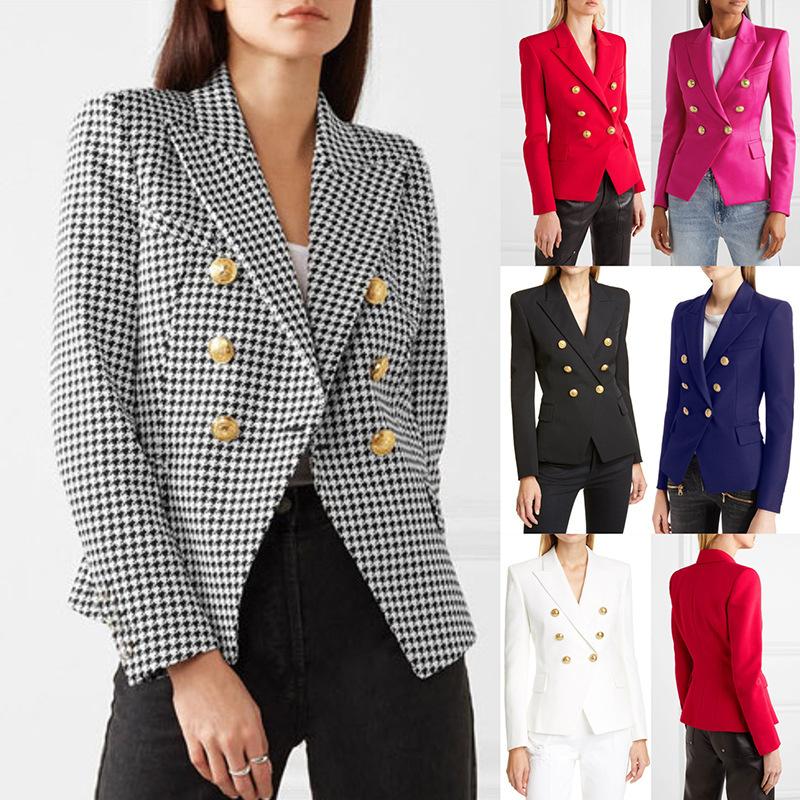 ឈុតនារី Women Winter Lapel Button Fashion Loose Casual Suit PZ773161