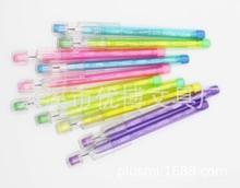 免削铅笔多节铅笔可推可换芯铅笔 彩色塑料铅笔