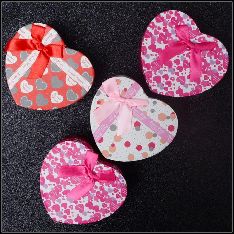 直销天地盖心型礼品盒 糖果礼物包装盒 喜糖收纳包装纸盒现货批发