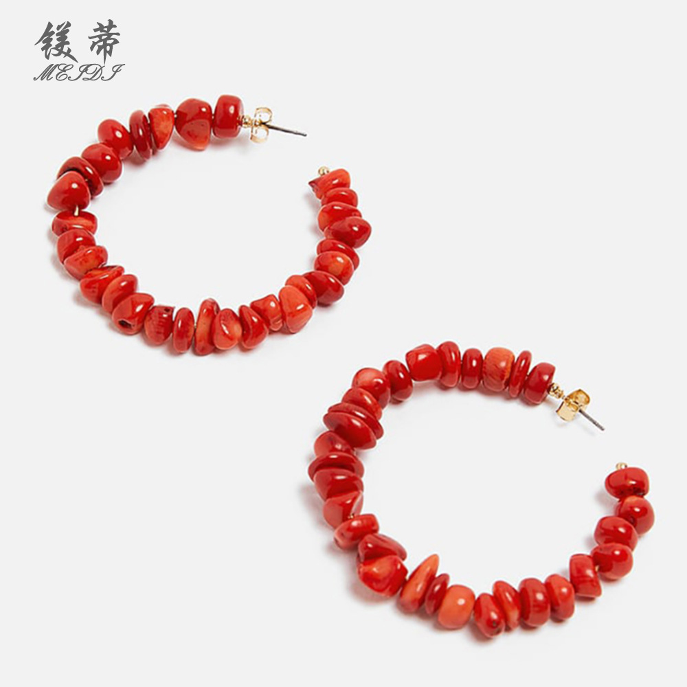 Alloy Fashion Geometric earring  (red)  Fashion Jewelry NHMD5201-red