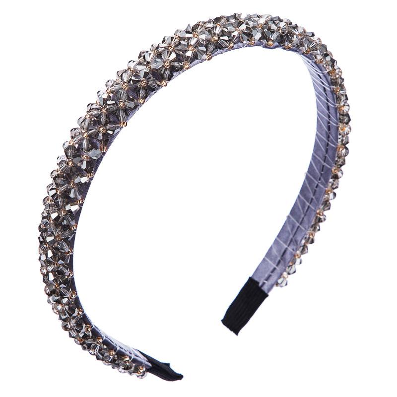 Fishing line handmade fineedge cloth headband fashion super flash inlaid crystal headband NHLN182982