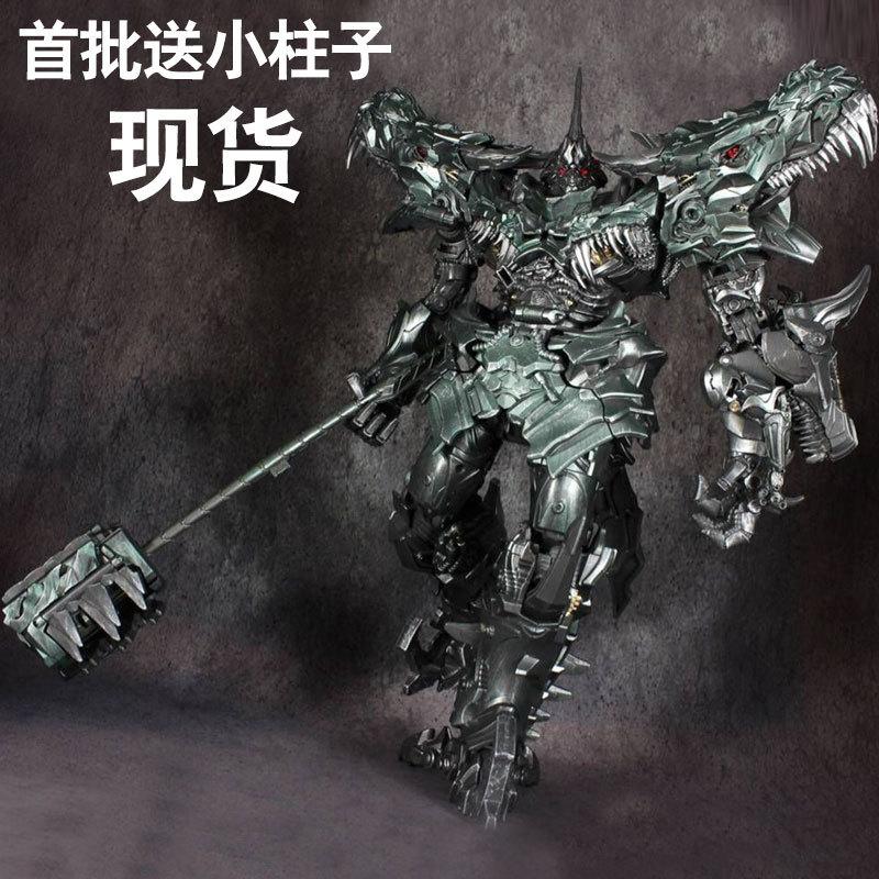 黑曼巴变形玩具金刚电影LS05 钢锁合金 放大版SS钢索恐龙远古领主