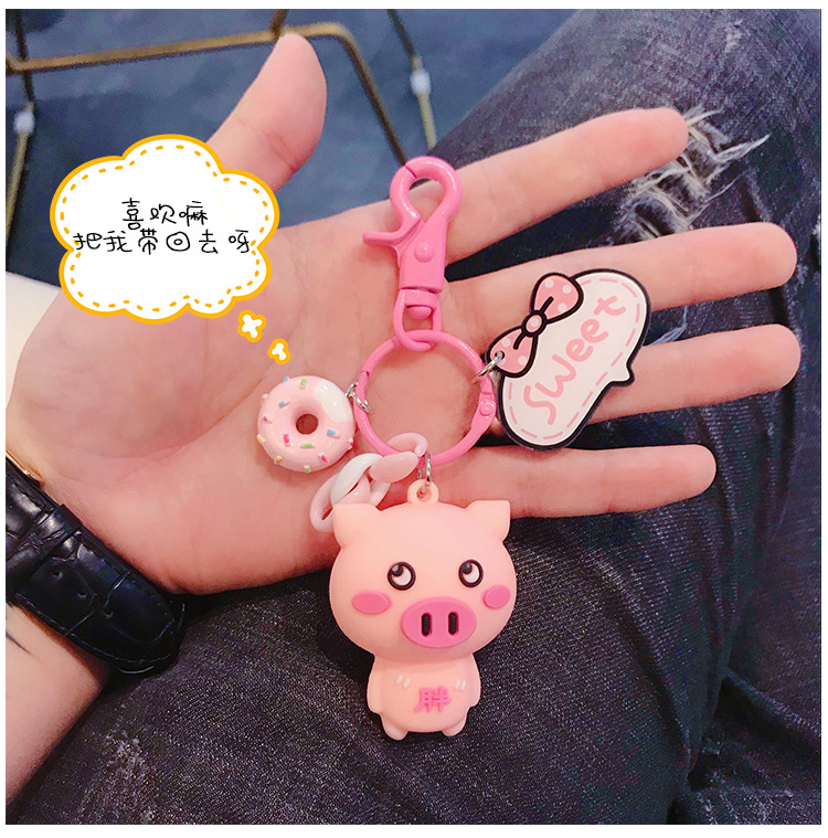 Simple creative DIY handmade pink pig apple headphones protector NHBM148324