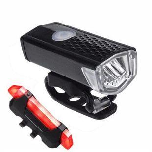 Mountain bike headlights taillights night riding USB charging bright lights riding equipment lights accessories 2255