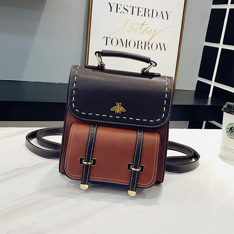 Korean Fashion Trend Retro Multifunctional Soft Leather Backpack