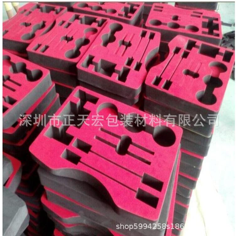高密度海绵内衬 化妆品电子产品海绵包装盒 PU海绵包装内托礼品盒