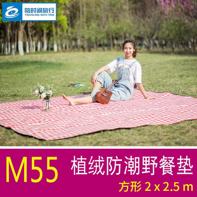 2*2.5米植绒野餐垫防水网红便携野餐布春游草地地垫宝宝爬行垫