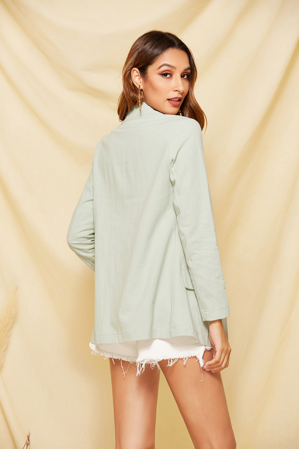 autumn and winter new products pink small suit jacket women's top two button long sleeve  NSDF351