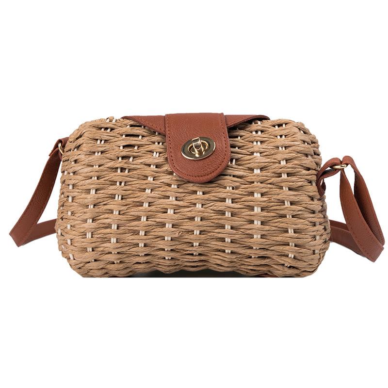 Summer woven straw bag women's new style foreign bag retro shoulder messenger bag NHGA200632