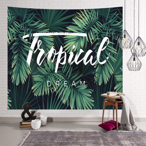 Nordic home flamingo tapestry green pineapple wall hanging cloth ins anchor Live background cloth