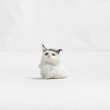 仿真动物小猫模型桌面摆件毛绒玩具
