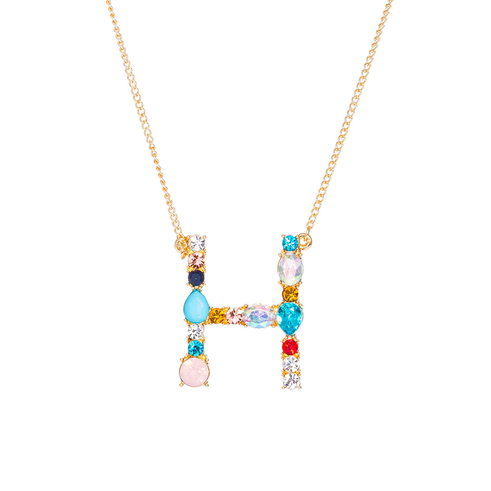 new simple fashion exquisite diamond English letter necklace wholesale NHAN255898