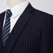 【M-6XL】加大码西装套装男秋季男士商务条纹西服套装结婚礼服潮