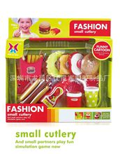 Kids' Kitchen Fast Food Play Set Burger French Fries Hot Dog