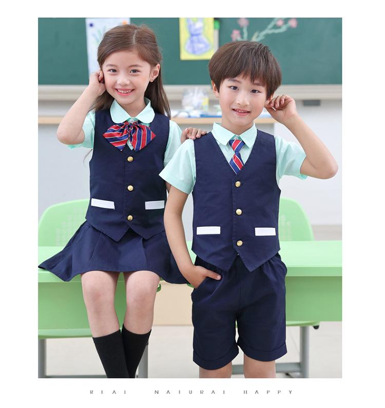 2020幼儿园园服夏装新款英伦风校服小学生班服夏季儿童套装演出服