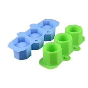 Cross-border exclusively for 3 sticks silicone succulent pot mold silicone flower pot mold for flower pot modeling
