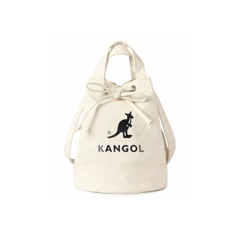 厂家直供出口韩国圆桶帆布袋鼠水桶包ins单肩斜挎包KANGOL包潮流