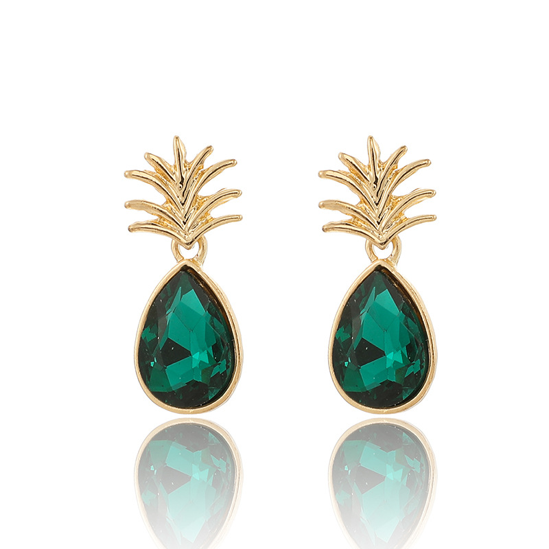 Aretes Flash Diamond Green Pineapple NHGY156893