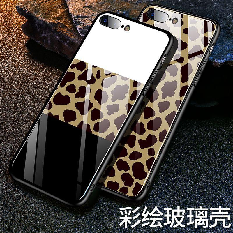 适用于iPhoneXR手机壳定制豹纹钢化玻璃手机壳小米9大理石玻璃壳