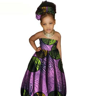 全棉非洲女童抹胸连衣裙非洲民族风印花长裙同款跨境电商货源专卖