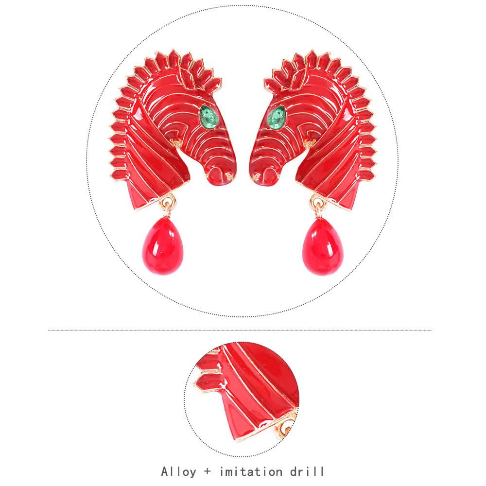 Aleación geométrica para mujer  taladro de imitación Aretes NHMD155985