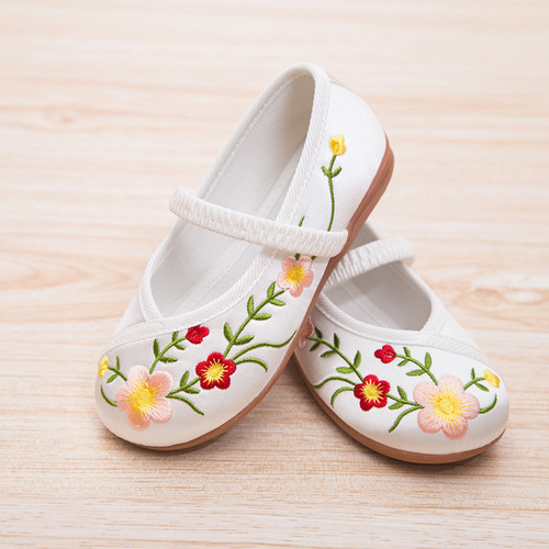 Children ancient shoes children Princess Hanfu shoes Beijing shoes girls Chinese folk dance hanfu embroidered shoes ethnic students performance shoes