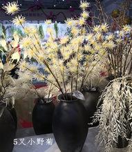 2019欧式海洋系婚礼装饰假花 厂家批发 仿真植绒 海胆花5叉小野菊