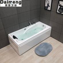 厂家直销批发亚克力浴缸独立式冲浪按摩浴缸工程酒店浴缸可定制