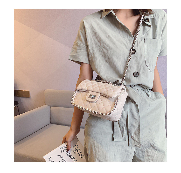 New fashion rhombic chain shoulder messenger bag NHPB170827