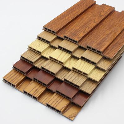 山东厂家直销 宾馆酒店KTV pvc木塑装饰材料 生态木长城板吊顶