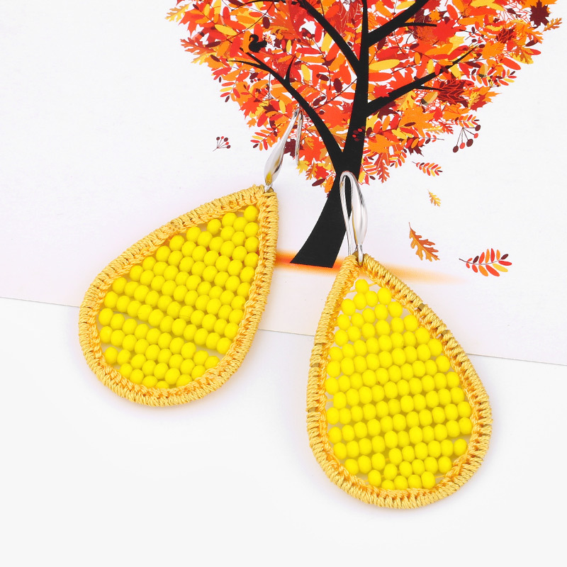 Alloy Fashion bolso cesta earring  yellow  Fashion Jewelry NHAS0520yellow