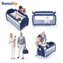 SWEEBY史威比出口铝管婴儿床折叠游戏床宝宝床经典款