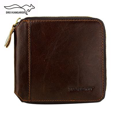 外贸货源 新款男士多功能牛皮风琴卡包 男女真皮零钱包银行卡夹
