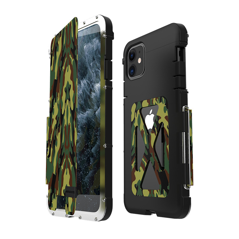 Armor King Iron Man Luxury Shockproof Stainless Steel 360° Rotating Metal Flip Case Cover for Apple iPhone 11 Pro Max & iPhone 11 Pro & iPhone 11