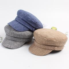 Sombrero de invierno boina femenina aleros de cuero negro pequeño estilo de fragancia sombrero azul marino retro NHXO182843