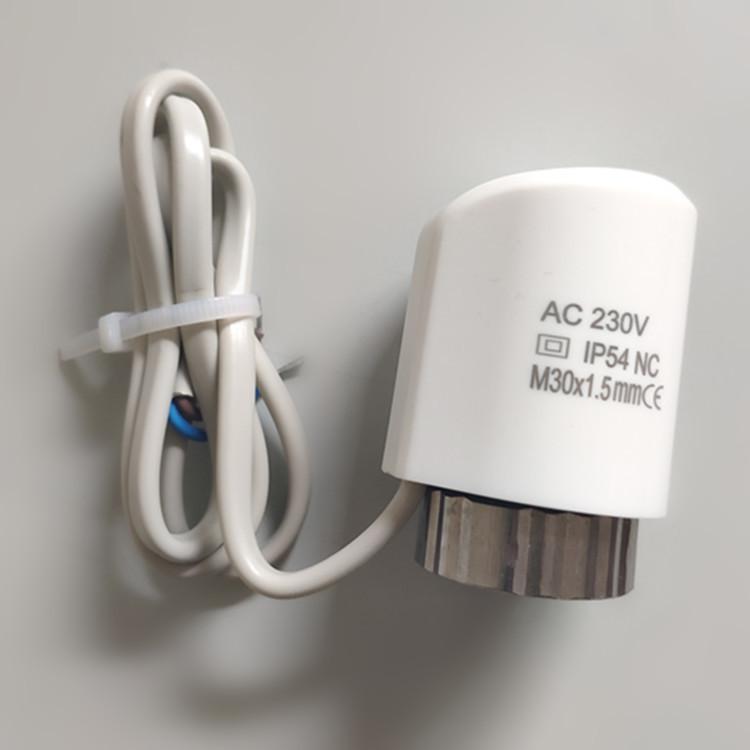 常闭常开地暖电热阀分水器温控器面板地暖温控器恒温电热执行器
