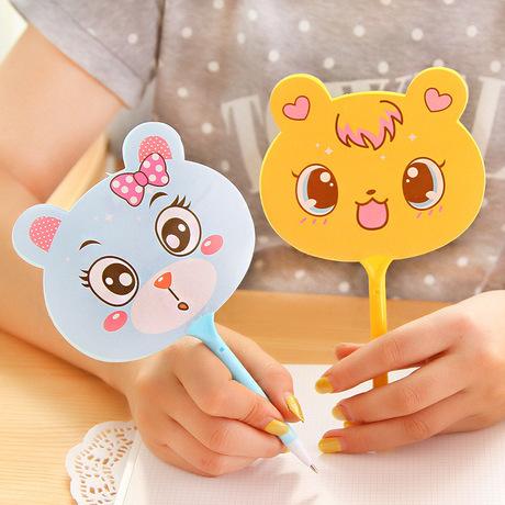 Phim hoạt hình mèo đầu hình quạt bút bi bút ký bút quảng cáo quà tặng bút in logo tư vấn quà tặng lớp