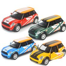 盒装合金车模仿真跑车赛车mini汽车模型玩具回力开门男孩玩具車